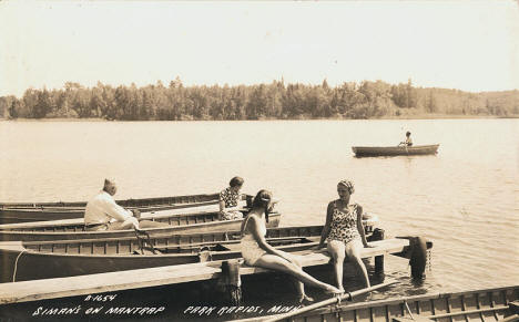 Siman's Resort on Mantrap Lake near Park Rapids Minnesota, 1940's