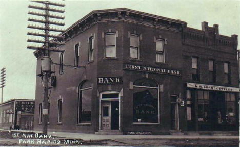 First National Bank, Park Rapids Minnesota, 1910's