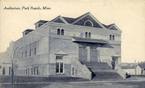 Auditorium, Park Rapids Minnesota, 1910