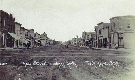 Main Street looking north, Park Rapids Minnesota, 1913