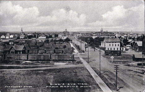 Birds eye view, Park Rapids Minnesota, 1910's