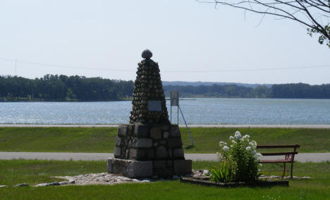 Monument and Lake, Parkers Prairie Minnesota, 2008