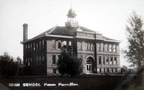 High School, Parkers Prairie Minnesota, 1914