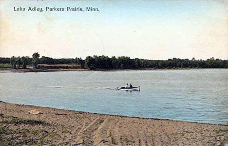 Lake Adley, Parkers Prairie Minnesota, 1912