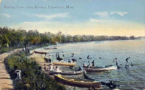 Bathing scene, Lake Koronis, Paynesville Minnesota, 1910's