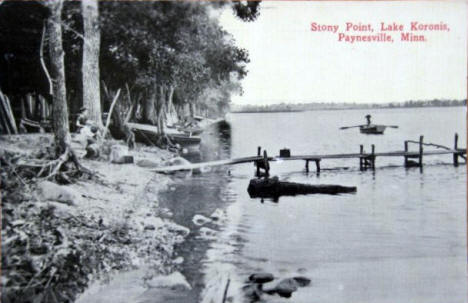 Stony Point, Lake Koronis, Paynesville Minnesota, 1910