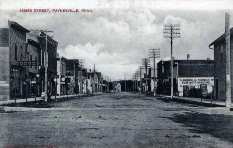 James Street, Paynesville Minnesota, 1909