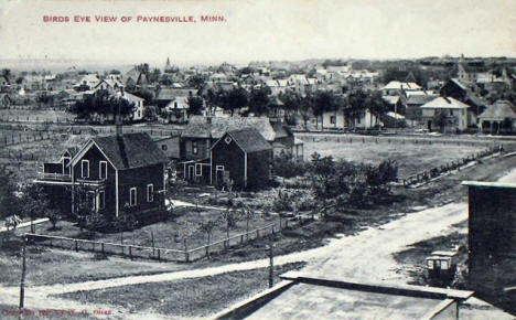 Birds eye view, Paynesville Minnesota, 1910