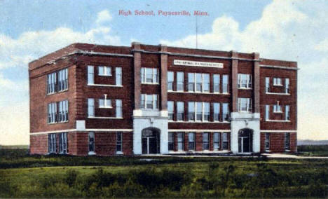 High School, Paynesville Minnesota, 1910's
