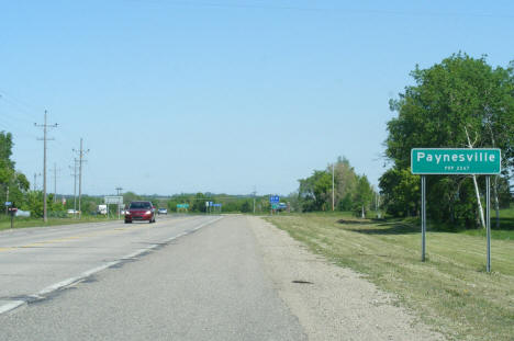 Entering Paynesville Minnesota on State Highway 55, 2009