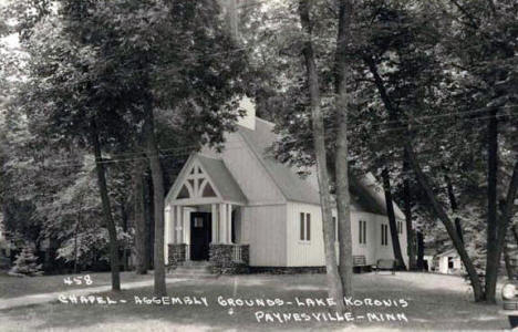 Chapel and Assembly Grounds, Lake Koronis, Paynesville Minnesota, 1949