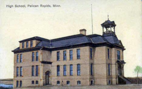 High School, Pelican Rapids Minnesota, 1910's