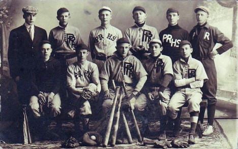 Pelican Rapids High School Baseball Team, Pelican Rapids Minnesota, 1912