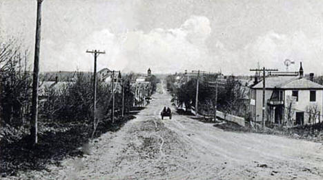 Main Street looking north, Pelican Rapids Minnesota, 1910