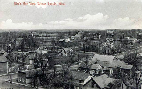 Birds eye view, Pelican Rapids Minnesota, 1910