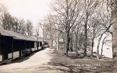 Cottages at Oak Lodge, Pelican Rapids Minnesota, 1920