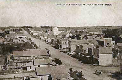 Birds eye view, Pelican Rapids Minnesota, 1909