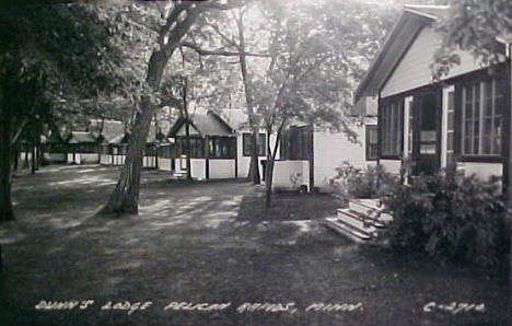 Dunns Lodge, Pelican Rapids Minnesota, 1940's?