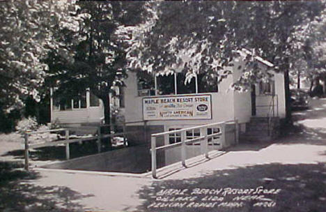 Maple Beach Resort Store, Pelican Rapids Minnesota, 1950's?