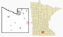 Location of Pemberton, Minnesota