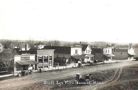 Birds eye view, Pennock Minnesota, 1900's?