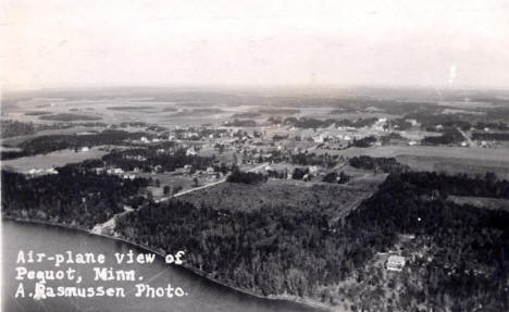 Aerial view of Pequot  Lakes Minnesota, 1928