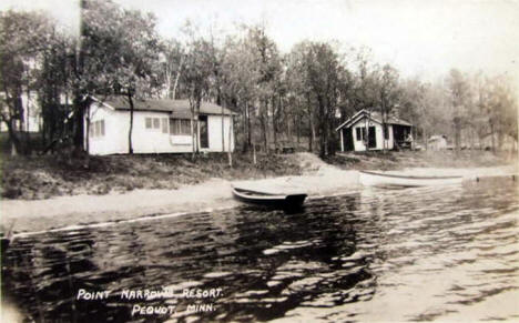 Point Narrows Resort, Pequot Minnesota, 1940's