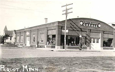 Garage at Pequot Lakes Minnesota, 1930