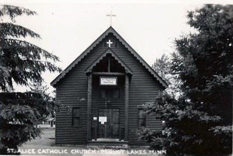 St. Alice Catholic Church, Pequot Lakes Minnesota, 1950's