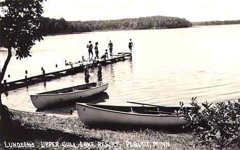 Lundeen's Upper Gull Lake Resort near Pequot Lakes Minnesota, 1940