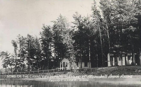 Clamshell Beach Resort, Pequot Minnesota, 1949