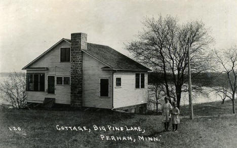 Cottage on Big Pine Lake, Perham Minnesota, 1922