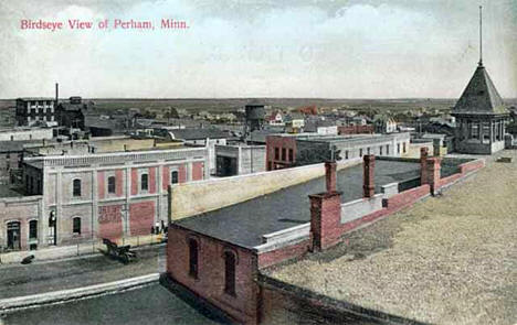 Birdseye view, Perham Minnesota, 1909