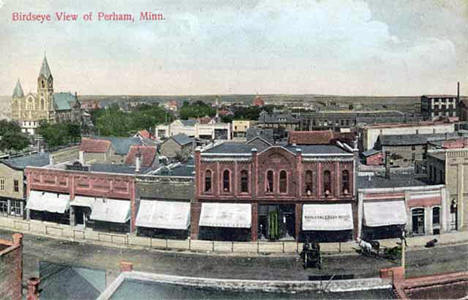 Birdseye view, Perham Minnesota, 1910