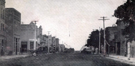 Main Street, Perham Minnesota, 1907