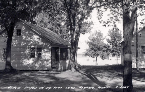Jungle Shores on Big Pine Lake, Perham Minnesota, 1940's