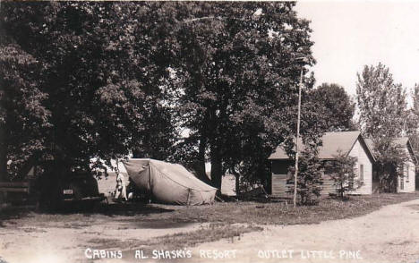 Al Shanski's Resort & Cabins, Little Pine Lake, Perham Minnesota, 1940's