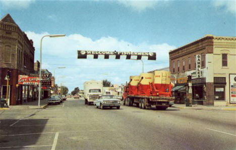 Street View, Perham Minnesota, 1960's