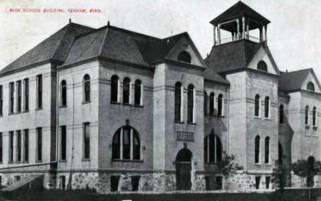 High School Building, Perham Minnesota, 1910