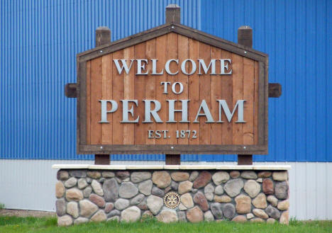 Welcome to Perham Minnesota Sign, 2008