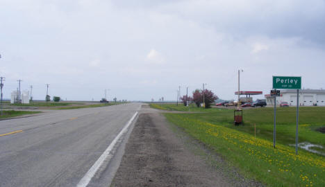 Entering Perley on US Highway 75, 2008