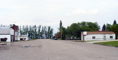 View of Downtown Perley Minnesota, 2008