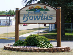 Welcome to Bowlus Minnesota Sign