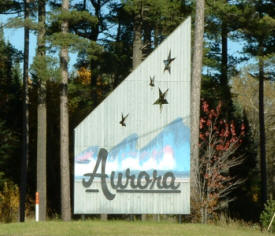 Aurora Minnesota Welcome Sign