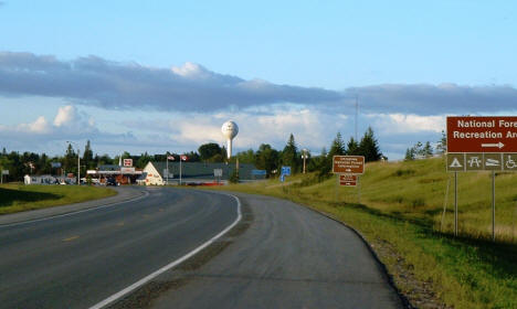 Entering Blackduck Minnesota on US Highway 71, 2004