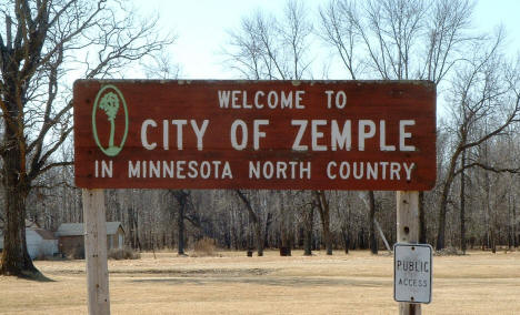 Zemple Minnesota City Welcome Sign, 2003