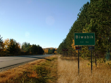Entering Biwabik Minnesota, 2004