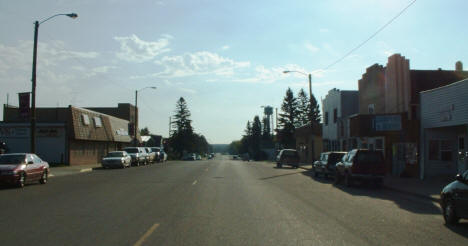 View of Downtown Northome looking east, 2004