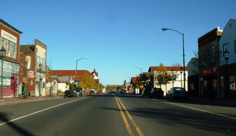 View of Downtown Biwabik Minnesota, 2004