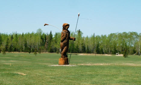 Famous Golfing Bear at what is now Golf on the Edge, 2003